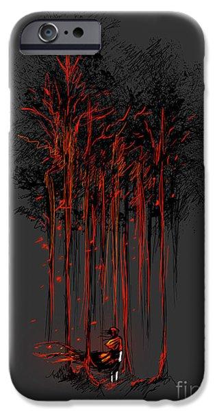 A crimson retaliation iPhone Case by Budi Satria Kwan