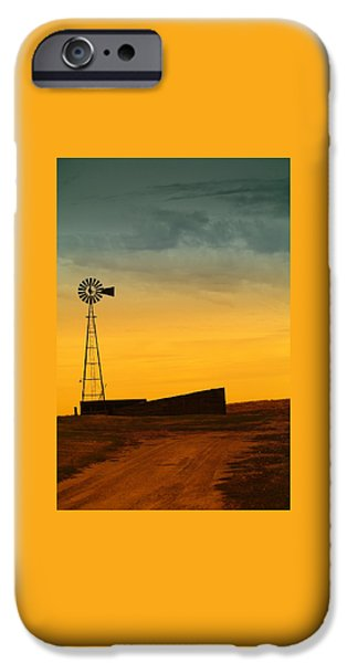 Pathway iPhone Cases - A Dakota Windmill iPhone Case by Jeff  Swan