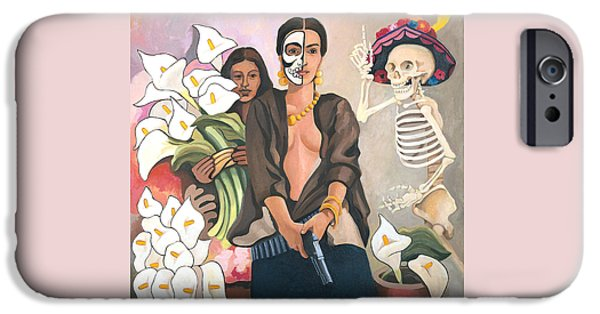 Diego Rivera iPhone Cases - A Dangerous Woman iPhone Case by Susan McNally