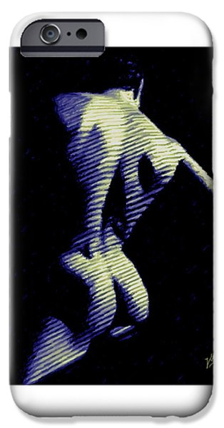 Muscular Digital iPhone Cases - A dark in a room iPhone Case by Joaquin Abella