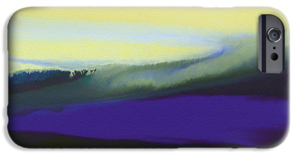 Surreal Landscape iPhone Cases - A Dark Momentum iPhone Case by The Art of Marsha Charlebois