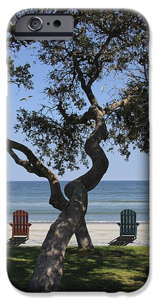 Ocean Scenes iPhone Cases - A Day at the Beach iPhone Case by Mike McGlothlen