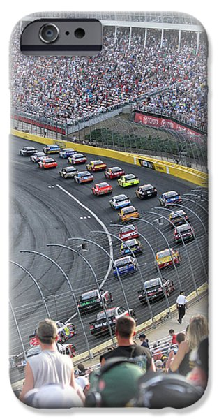 Racetrack iPhone Cases - A Day at the Racetrack iPhone Case by Karol  Livote