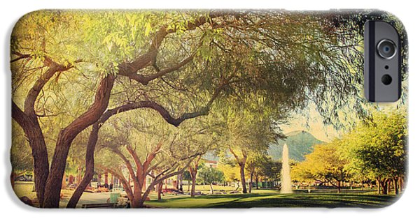 Park Benches iPhone Cases - A Day for Dreaming iPhone Case by Laurie Search