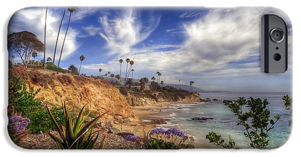 Orange County iPhone Cases - A Day in Laguna Beach iPhone Case by Sean Foster