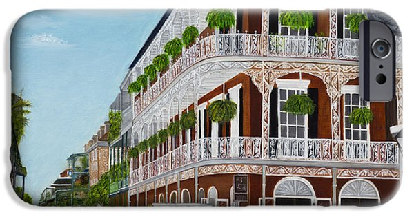 Balcony iPhone Cases - A Carriage Ride in the French Quarter iPhone Case by Judy Jones