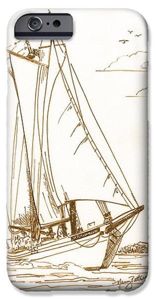 Sailboats iPhone Cases - A Day On The Bay iPhone Case by Nancy Patterson