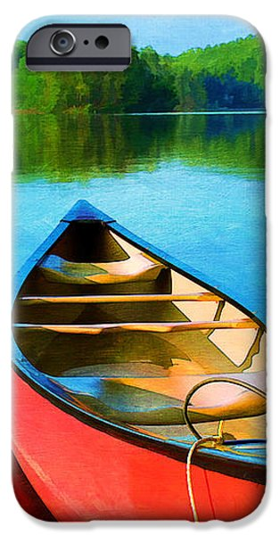A Day on the Lake iPhone Case by Darren Fisher