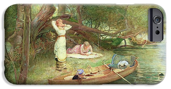 Punting iPhone Cases - A Day On The River iPhone Case by John Parker