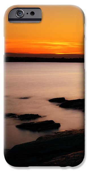 New England Landscape iPhone Cases - A Days End iPhone Case by Lourry Legarde