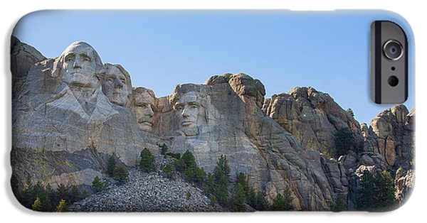 President iPhone Cases - A Different View Of Mount Rushmore iPhone Case by John Bailey