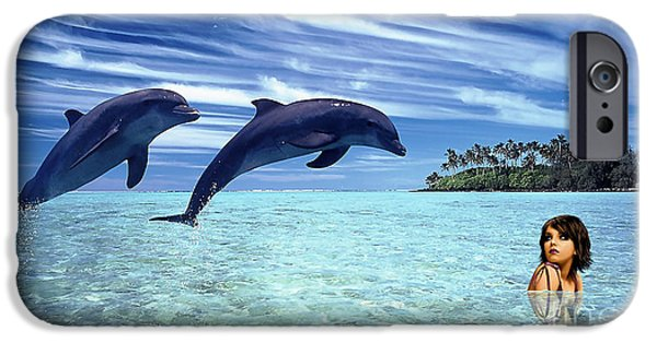 Dolphin iPhone Cases - A Dolphins Tale iPhone Case by Marvin Blaine