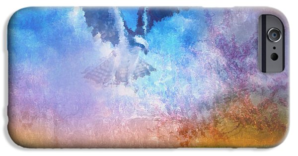 Poetic Mixed Media iPhone Cases - A Dream Within A Dream iPhone Case by Georgiana Romanovna