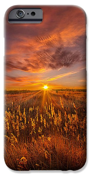 Crops iPhone Cases - A Drifting Kiss iPhone Case by Phil Koch