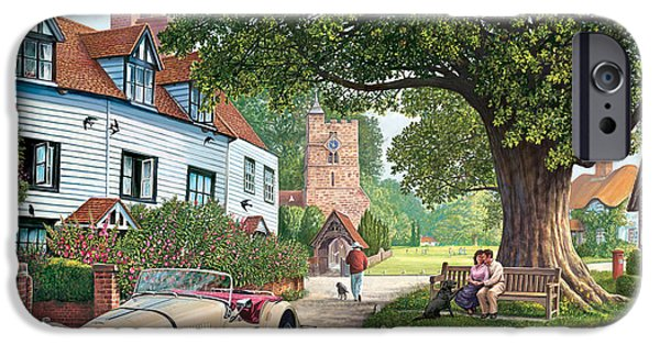 Rural iPhone Cases - A Drive Out iPhone Case by Steve Crisp