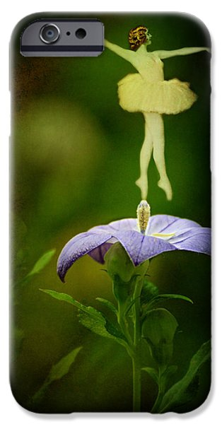 Balloon Flower iPhone Cases - A Fairy in the Garden iPhone Case by Rebecca Sherman