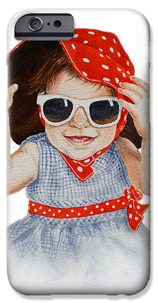 Toddler iPhone Cases - A Fashion Girl  iPhone Case by Irina Sztukowski