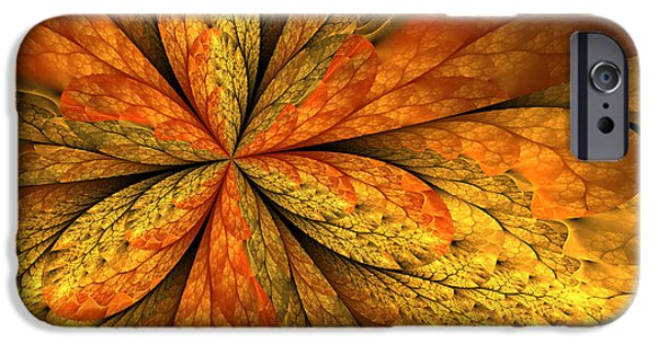 Abstract Digital Art iPhone Cases - A Feeling of Autumn iPhone Case by Gabiw Art