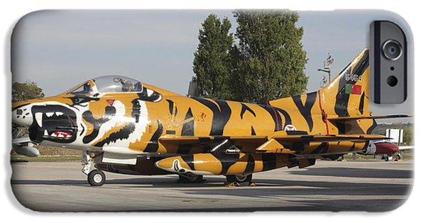 Stripe.paint iPhone Cases - A Fiat G-91 Fighter Plane iPhone Case by Timm Ziegenthaler