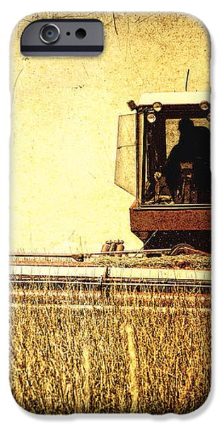 A Field for Harvest iPhone Case by Lincoln Rogers