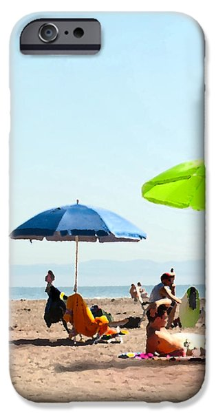 A Fine Day at the Beach iPhone Case by Artist and Photographer Laura Wrede