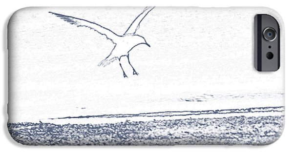Seagull Mixed Media iPhone Cases - A Fine Flight iPhone Case by Karol  Livote