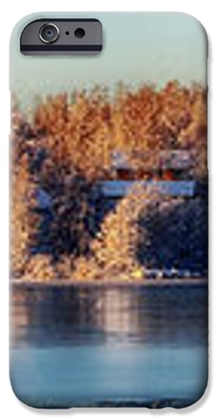 A Finland Winter Panorama iPhone Case by Mountain Dreams