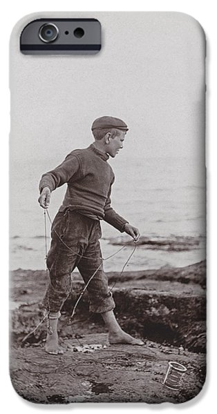 Pastimes iPhone Cases - A Fisher Laddie iPhone Case by James Patrck