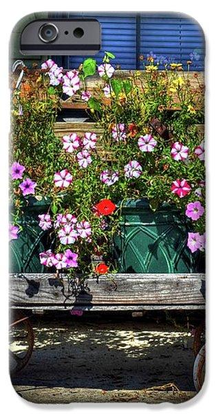 A Flower Wagon iPhone Case by Mel Steinhauer