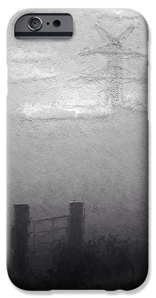 Fog Mist Mixed Media iPhone Cases - A foggy Day iPhone Case by Stefan Kuhn
