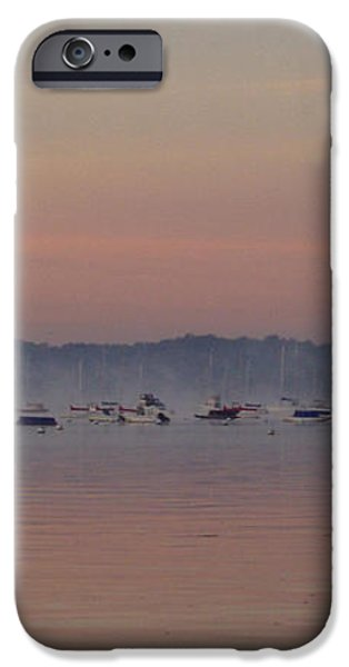 A Foggy Fishing Day iPhone Case by JOHN TELFER