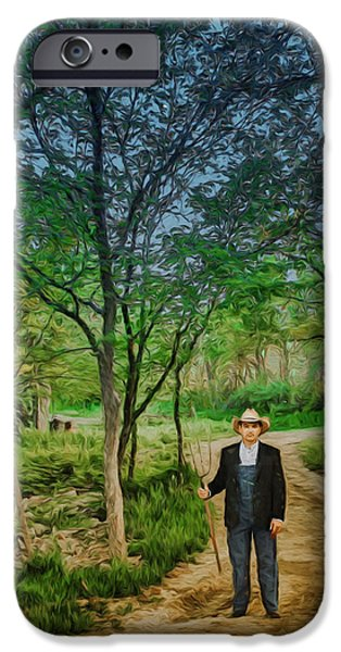 Painter Photographs iPhone Cases - A Fork in the Road iPhone Case by Nikolyn McDonald