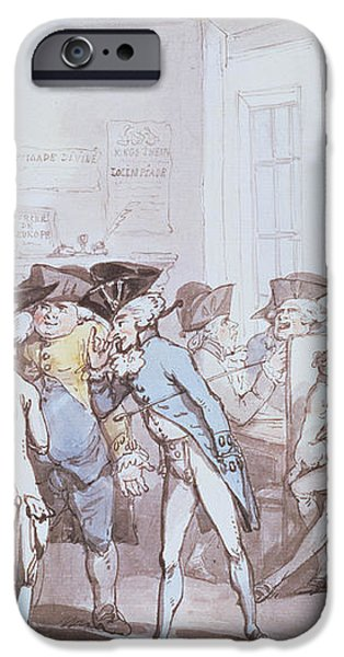 A French Coffee House iPhone Case by Thomas Rowlandson