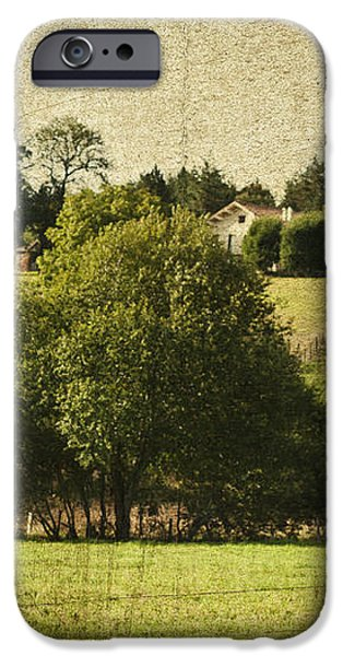 A French Country Scene iPhone Case by Nomad Art And  Design