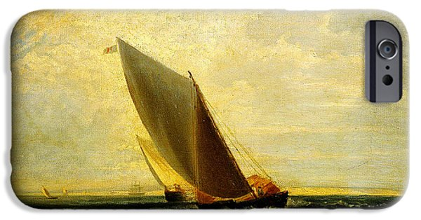 Beautiful Scenery Paintings iPhone Cases - A Fresh Breeze  after Sheerness and the Isle iPhone Case by Celestial Images