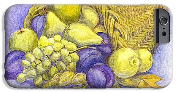 Crops iPhone Cases - A Fruitful Horn of Plenty iPhone Case by Carol Wisniewski