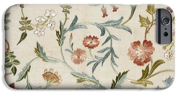 Silk iPhone Cases - A Garden Piece iPhone Case by May Morris