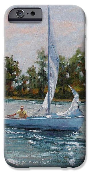 A Gift of Memories Two on Rhodes 19 iPhone Case by Laura Lee Zanghetti