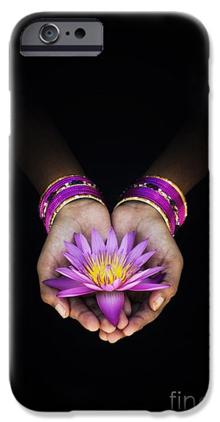Indian Girl iPhone Cases - A Gift iPhone Case by Tim Gainey