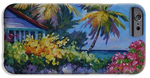 Bermudas iPhone Cases - A Glimpse of the Sea iPhone Case by John Clark