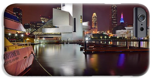 Slider Photographs iPhone Cases - A Glorious Cleveland Night iPhone Case by Frozen in Time Fine Art Photography