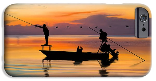 Redfish iPhone Cases - A Glorious Day iPhone Case by Kevin Putman