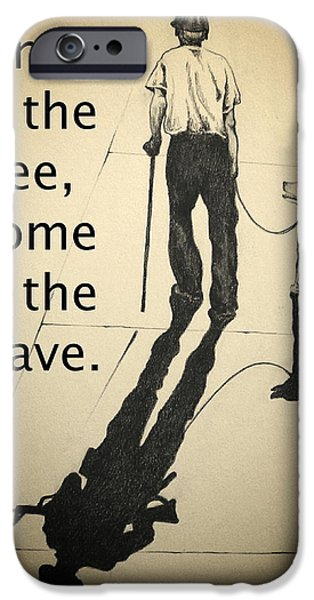Sacrifice Mixed Media iPhone Cases - A Grateful Nation iPhone Case by Catherine Howley