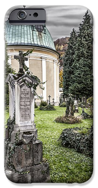 Cemetary iPhone Cases - A Grave Situation iPhone Case by Anthony Citro