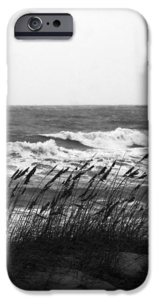A Gray November Day at the Beach iPhone Case by Susanne Van Hulst