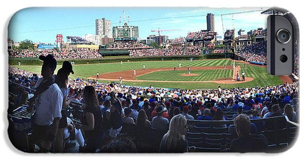 Chicago Cubs iPhone Cases - A Great Day at Wrigley Field iPhone Case by Rod Seel