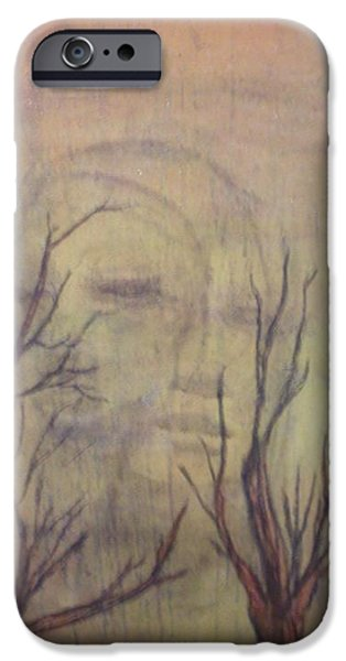 Mystical Landscape Mixed Media iPhone Cases - A Greater Depth iPhone Case by Laura Walker