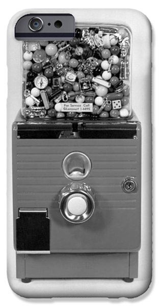 Mechanism iPhone Cases - A Gumball Machine iPhone Case by Underwood Archives