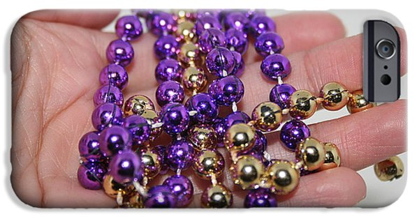 Jewelry Greeting Cards iPhone Cases - A Handful of Beads iPhone Case by Ester  Rogers