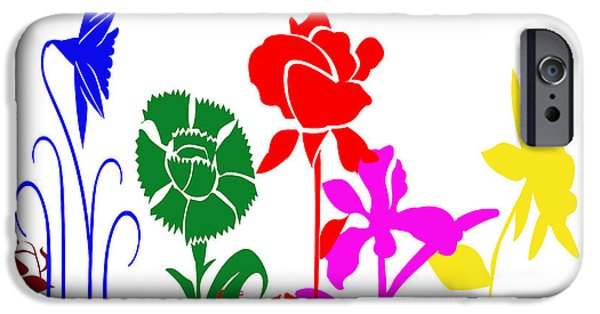 Multimedia iPhone Cases - A Happy Garden iPhone Case by Tina M Wenger